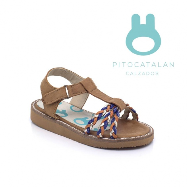 sandalia tiras trenzadas para niña Pitocatalan Primavera verano 2019