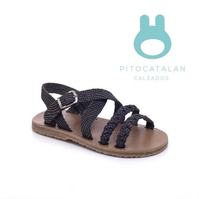sandalias para niña reptil Pitocatalan Primavera verano 2019