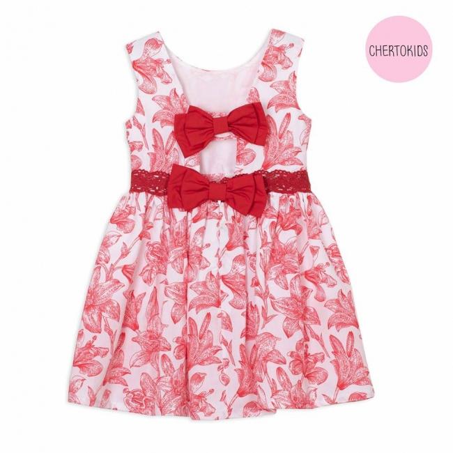 vestido beba con moño en espalda Cherto Kids primavera verano 2019