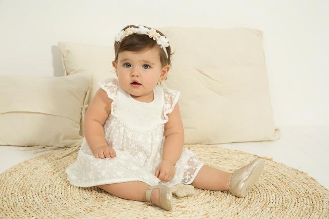 vestido blanco beba bautismo o fiesta minimimo co Verano 2019