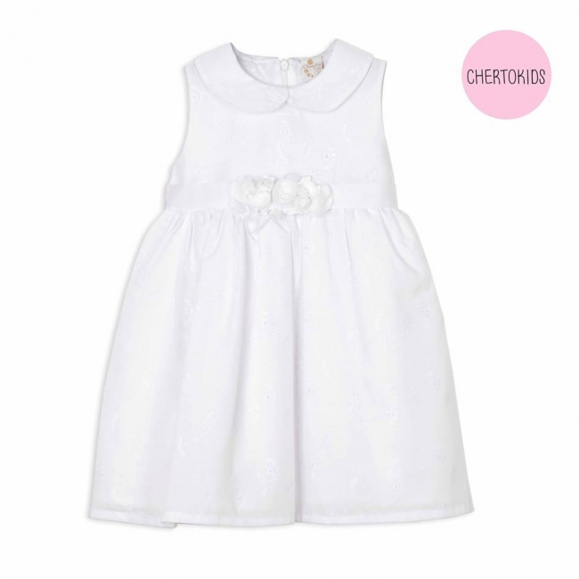 vestido blanco ideal bautismo beba Cherto Kids primavera verano 2019