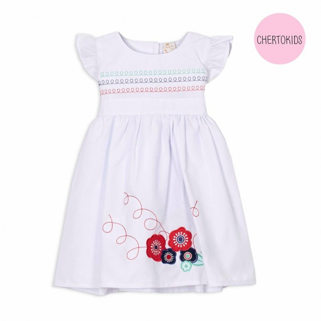 vestido blanco para beba Cherto Kids primavera verano 2019