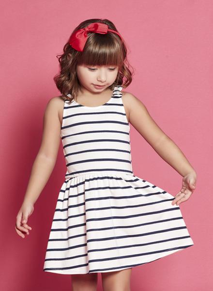 14e67a47f3b vestido corto a rayas Nucleo nenas verano 2019 – Minilook