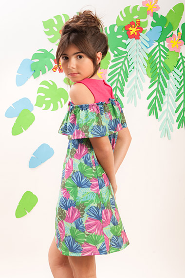 vestido de algodon para niñas casual a croquer verano 2019