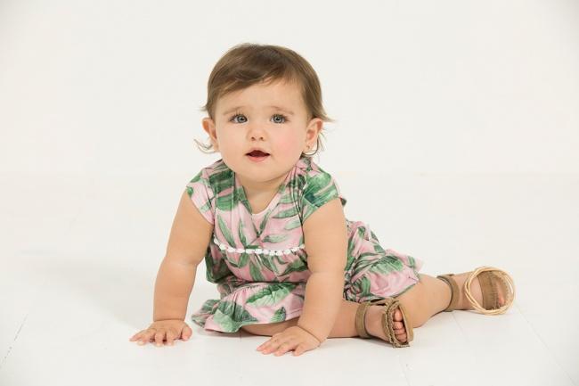 vestido estampa tropical para bebes minimimo co Verano 2019