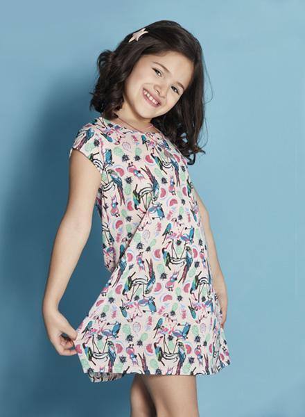vestido estampa unicornio Nucleo nenas verano 2019