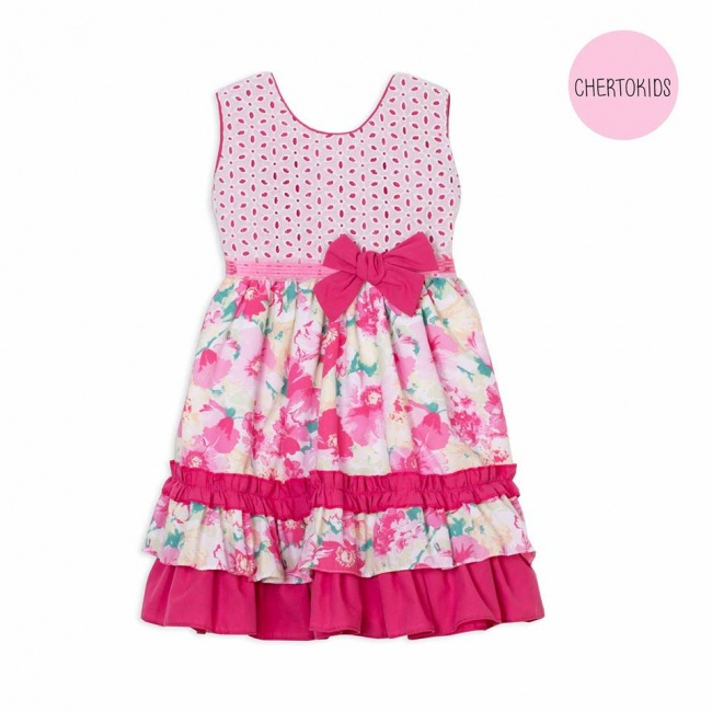 vestido falda floreada top broderie beba Cherto Kids primavera verano 2019