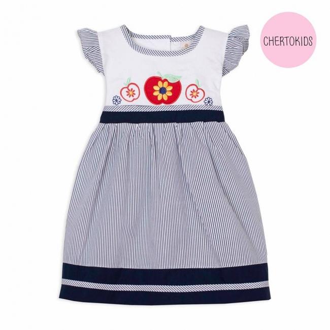 vestido para beba a rayas Cherto Kids primavera verano 2019