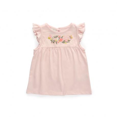 vestido rosado algodon beba Broer Enfants verano 2019