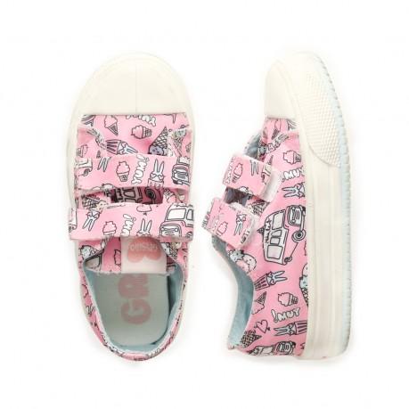 zapatillas lona estampada niñas Grisino primavera verano 2019