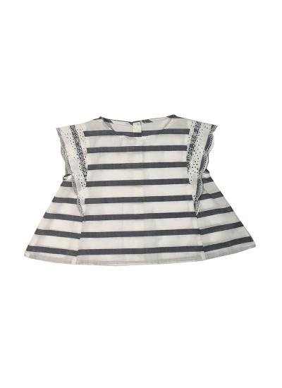 blusa a raya para niñas Pioppa verano 2019