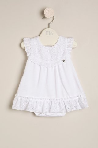 7ea60eda1 body vestido blanco con volado beba bautismo Magdalena Esposito primavera  verano 2019