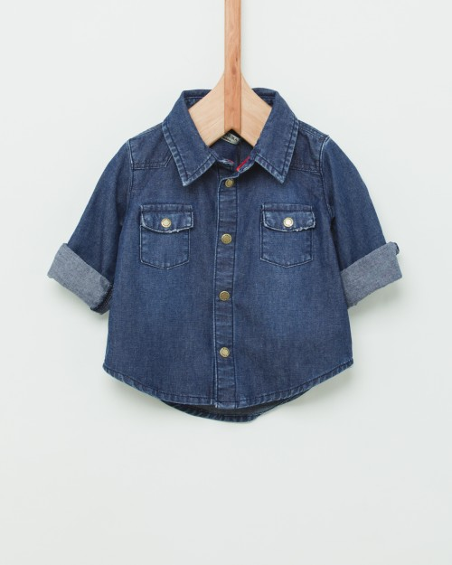 camisa denim bebes Wanama Boys  Girls verano 2019