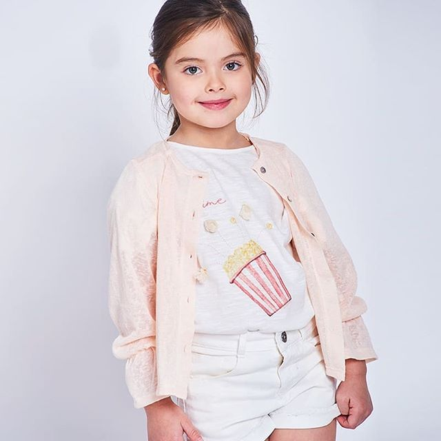 cardigan de hilo para niñas Anavana primavera verano 2019