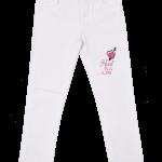 jeans blanco para niñas Abellie verano 2019