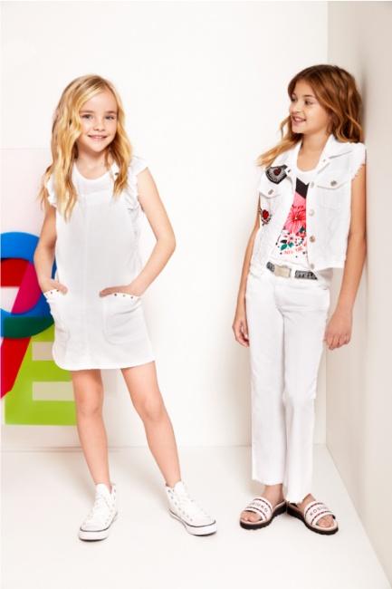 pantalon blanco para niñas Kosiuko Kids primavera verano 2019
