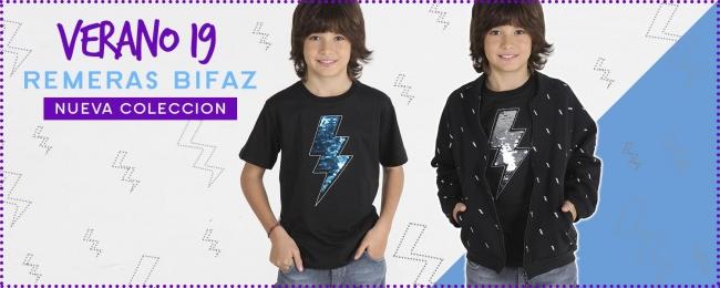 remera y campera algodon negra para niños urbanito verano 2019
