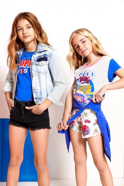 short denim niñas Kosiuko Kids primavera verano 2019