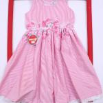 vestido a rayas rosadas para beba Solcito primavera verano 2019