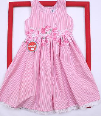 99d0a05c5 vestido a rayas rosadas para beba Solcito primavera verano 2019