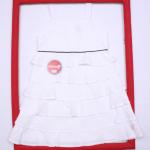 vestido blanco con volados bautismo beba Solcito primavera verano 2019
