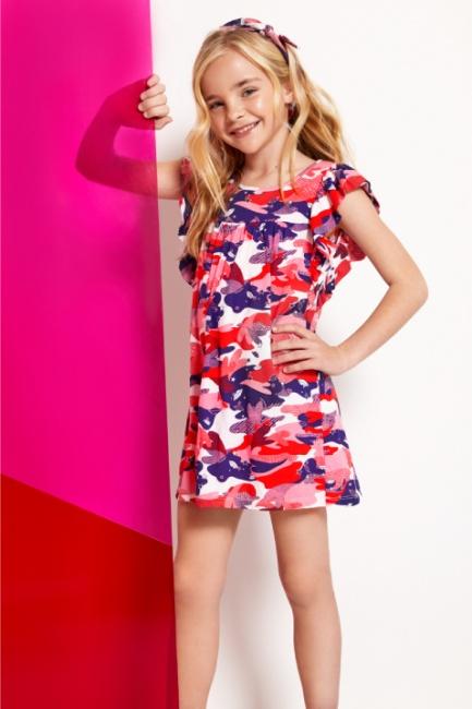 5e0445893 vestido corto camufaldo niña Kosiuko Kids primavera verano 2019 ...