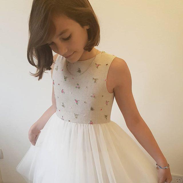 vestido de fiesta para niña con falda de tul Girls Boutique verano 2019