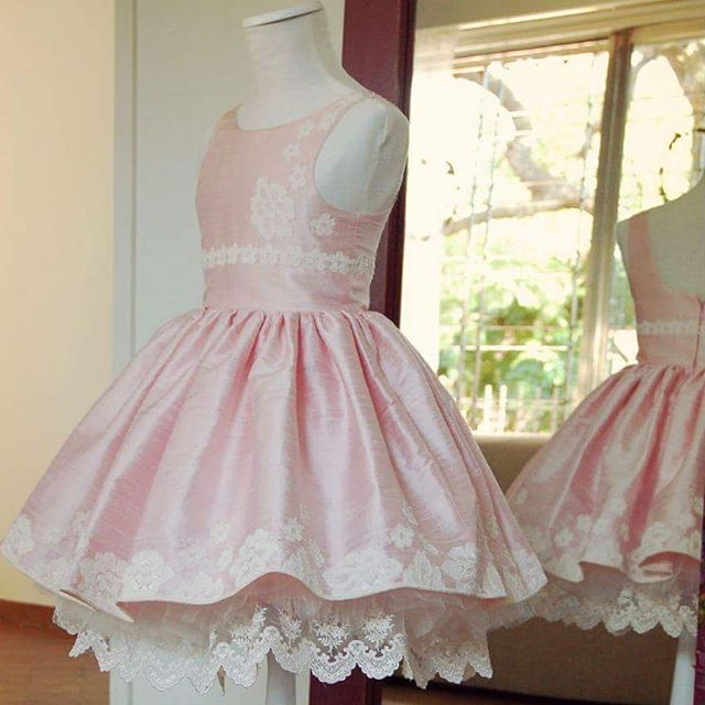 vestido de fiesta rosado para niñas Girls Boutique verano 2019
