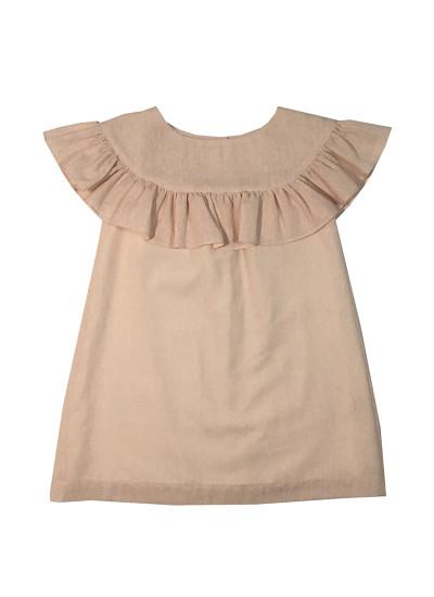 vestido de lino para niña Pioppa verano 2019