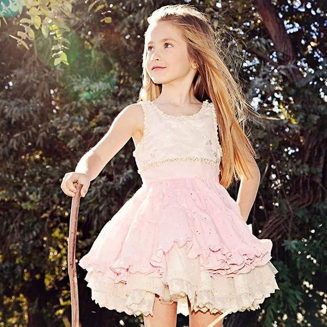 vestido de riesta rosa palido para niño Girls Boutique verano 2019