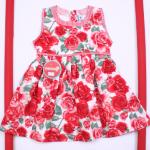 vestido floreado con detalles a rayas beba Solcito primavera verano 2019