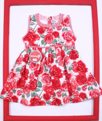 517a11b6f vestido floreado con falda acampanada para niña bebe Solcito primavera  verano 2019. vestido floreado con detalles a rayas beba Solcito primavera  verano 2019