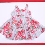 vestido floreado con falda acampanada para niña bebe Solcito primavera verano 2019