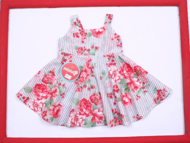 8c7039ea6 vestido floreado con falda acampanada para niña bebe Solcito primavera  verano 2019