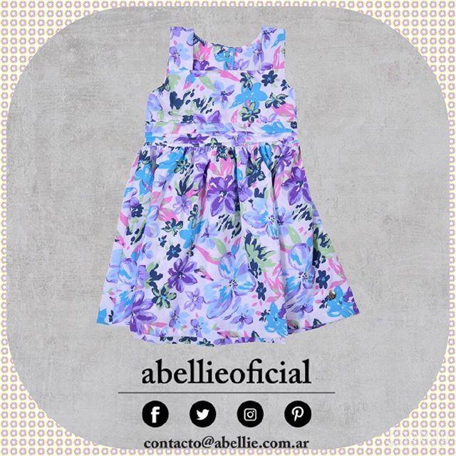 vestido floreado para beba Abellie verano 2019