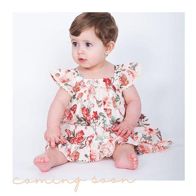 vestido floreado para beba anavana verano 2019