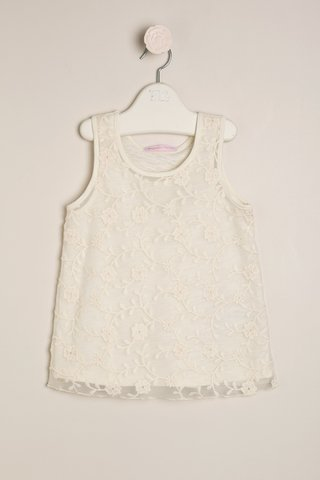 vestido microtul bordado blanco beba bautismo Magdalena Esposito primavera verano 2019