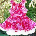 vestido para fiesta con estampa de rosa para nñas Girls Boutique verano 2019