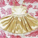vestido para fiesta de niña dorado Girls Boutique verano 2019