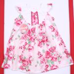 vestido plisado floreado para niña bebe Solcito primavera verano 2019