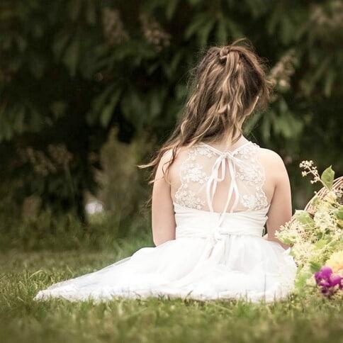a9de8b528 vestidos de fiesta blanco para niñas espada de microtul bordado Girls  Boutique verano 2019