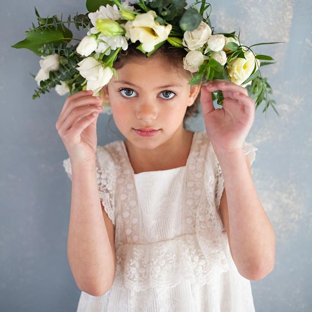 vestidos de lino para niña pioppa primavera verano 2019