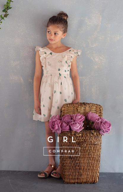 vestidos para niñas pioppa primavera verano 2019