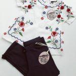 blusa bordada en hilos niña Little akiabara verano 2019
