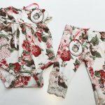 body floreado beba y pantalon con puntilla Little akiabara verano 2019