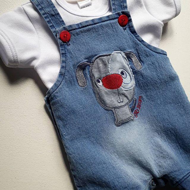 enterito jeans para bebe Globito team verano 2019