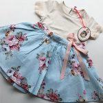 pollera floreada beba Little akiabara verano 2019