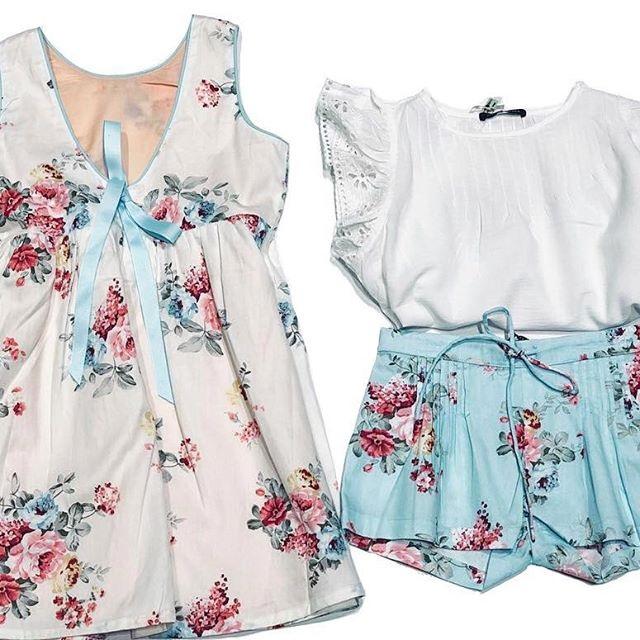short y vestidos floreados para niñas Little akiabara verano 2019