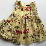 vestido amarillo con flores y bombacha beba Little akiabara verano 2019