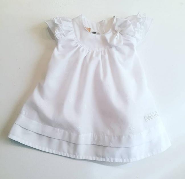 vestido blanco para beba Globito team verano 2019